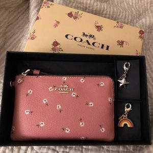 NWT Coach gorgeous wristlet with charms PRICE FIRM